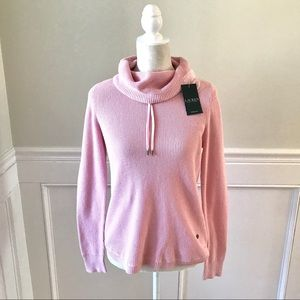 RALPH LAUREN Pink Funnel Neck Knit Sweater NWT S